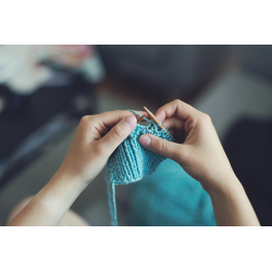 Cours tricoter un plaid...