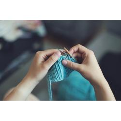 Cours tricot écharpe 05/10...