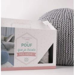 Kit « Je tricote mon Pouf »