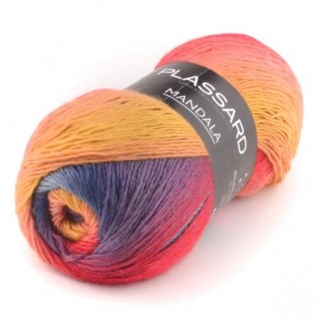 Mandala fil chiné - laine Plassard