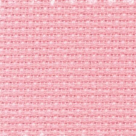 Toile aida 5.5 pts rose clair par coupon de 25 cm/160cm