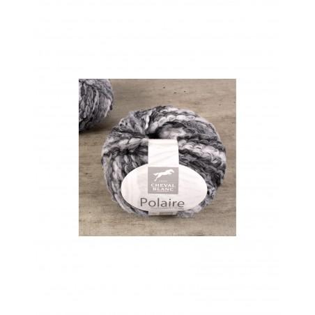 polaire grosse laine à tricoter cheval blanc
