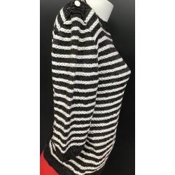 Pull tricoté été 100% fait...