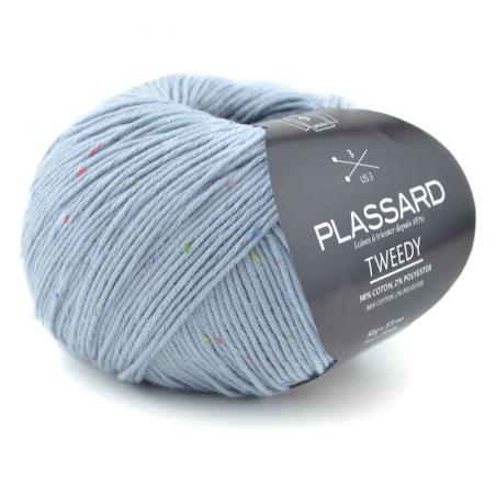 Pelote de fil à tricoter Tweedy fils et cotons plassard