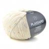 Pelote de fil à tricoter Tweedy fils et cotons plassard : Couleur:Beige
