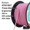 Ruban élastique lisse de haute qualité souple et résistant 0,6mm : Couleur:Rose