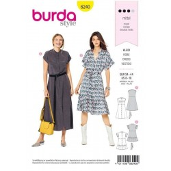 PATRON BURDA 6240 ROBE...