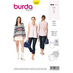 PATRON BURDA 6234 BLOUSE...