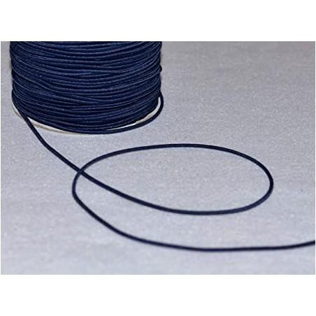 Elastique rond Bleu marine haute qualité et souple 1,7 mm