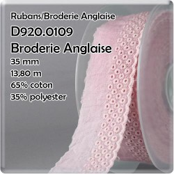 broderie anglaise 35mm rose...