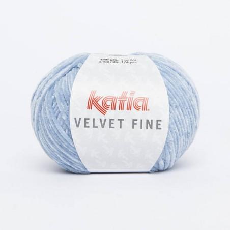 laine chenille à tricoter Velvet Fine velours - laine katia