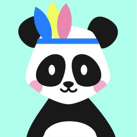 Kit canevas soudan20x20 pandi-panda broderie