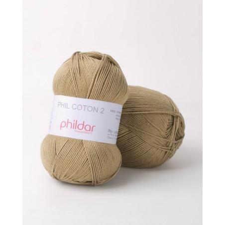 Fil 100% coton à tricoter phil coton 2 fil coton phildar