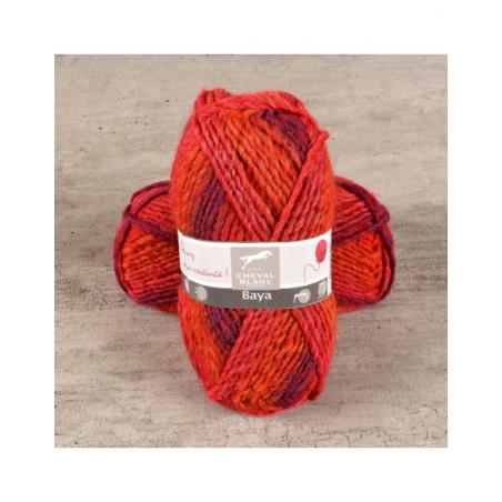 Pelote de laine bayardere laine Baya fils et laines Cheval Blanc