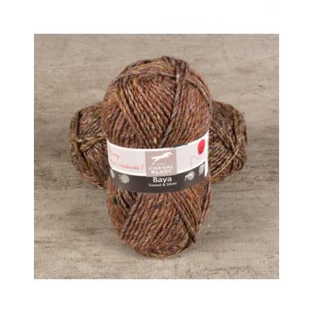 Pelote de laine BAYA TWEED & SILVER laine et fil Cheval Blanc