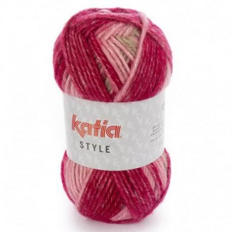 Laine chinée à tricoter STYLE fils et laines katia